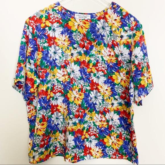 Vintage Laura /&Jayne Collection FloralFruit Blouse